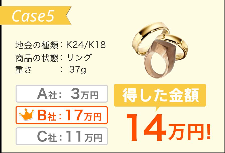 K24/K18 リング 37g